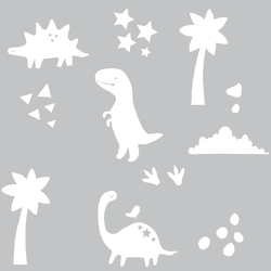 Eina Design Dino muursticker Wit