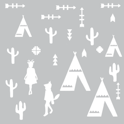 Eina Design Muurstickers Tipi Wit